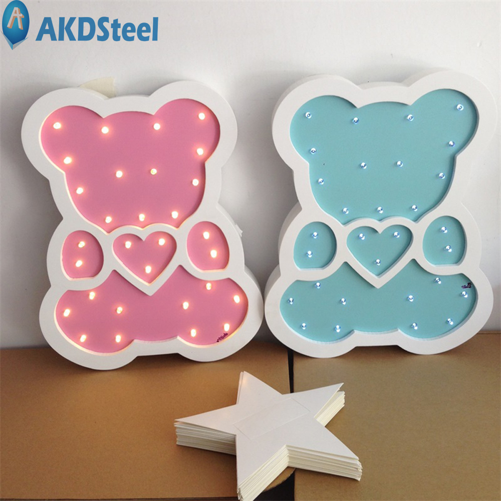 AKDSteel Children Bear Shape LED Night Light Cute Creative Decoration for Children's Room Hallowmas Best Gift New Year Chrismas creative home decoration ferris wheel shape led night light