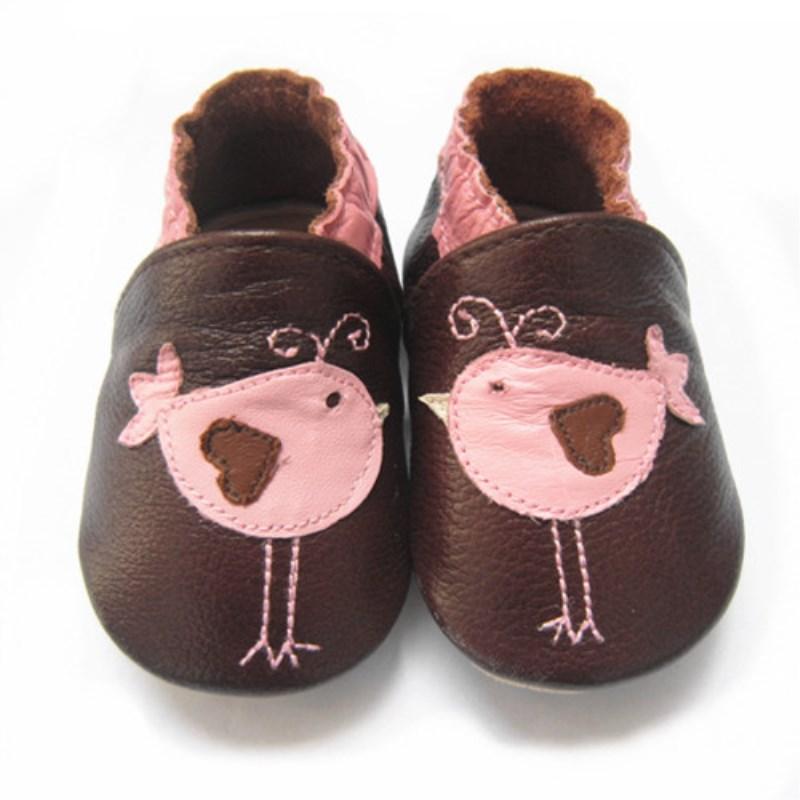 Милая детская обувь из телячьей кожи с рисунком; нескользящая прогулочная детская обувь для девочек и мальчиков