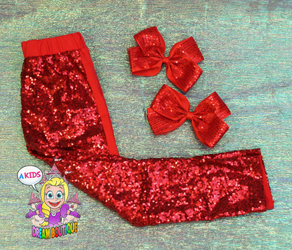 14317d6083 Red sequin leggings,gold sparkle pants,girls sequin leggings,girls ...