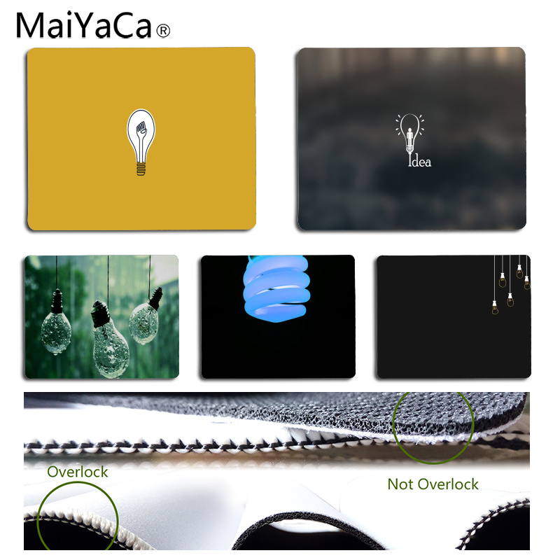 MaiYaCa The light bulb Customized laptop Gaming mouse pad Size for 25x29CM Speed Version Gaming Mousepads