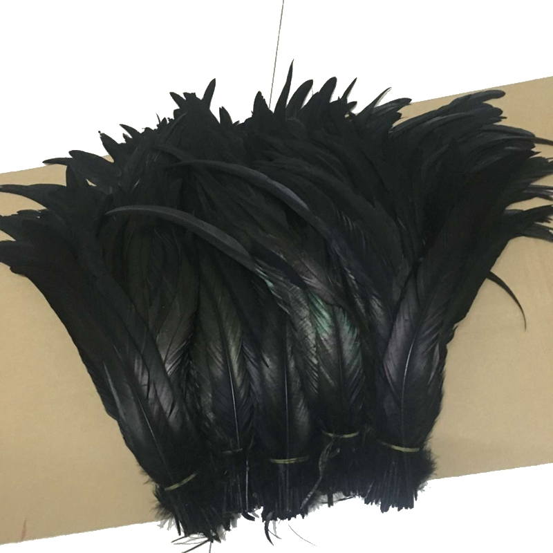 """NEW 25 pcs 14-16/"""" long Brown Dyed Rooster COQUE tail Feathers for crafting"""