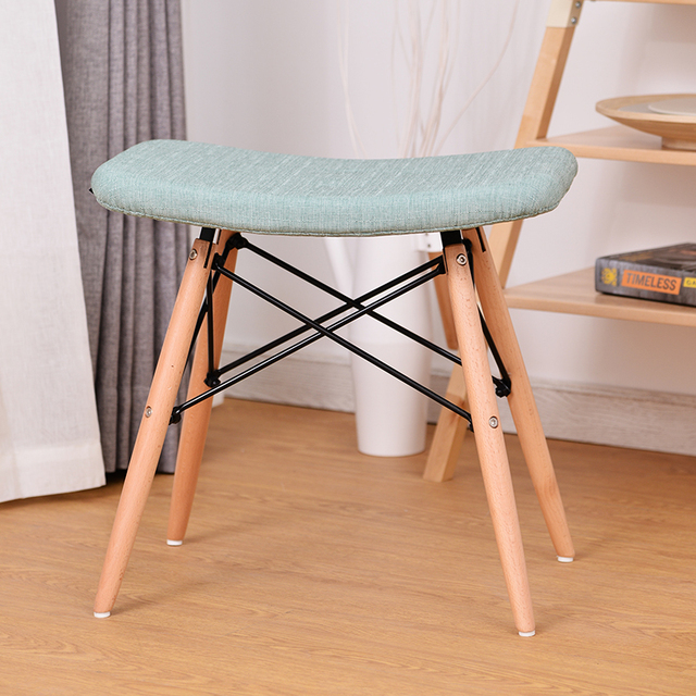 Nice Modern Design Popular Soft Cover Padded Leisure Side Stool Ottoam Shoes  Changing Stool Chair Famous Design