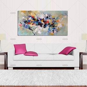 Image 5 - Лучшая новинка, картина, абстрактные Масляные картины на холсте, 100% ручная работа, цветной холст, современное искусство для домашнего декора стен