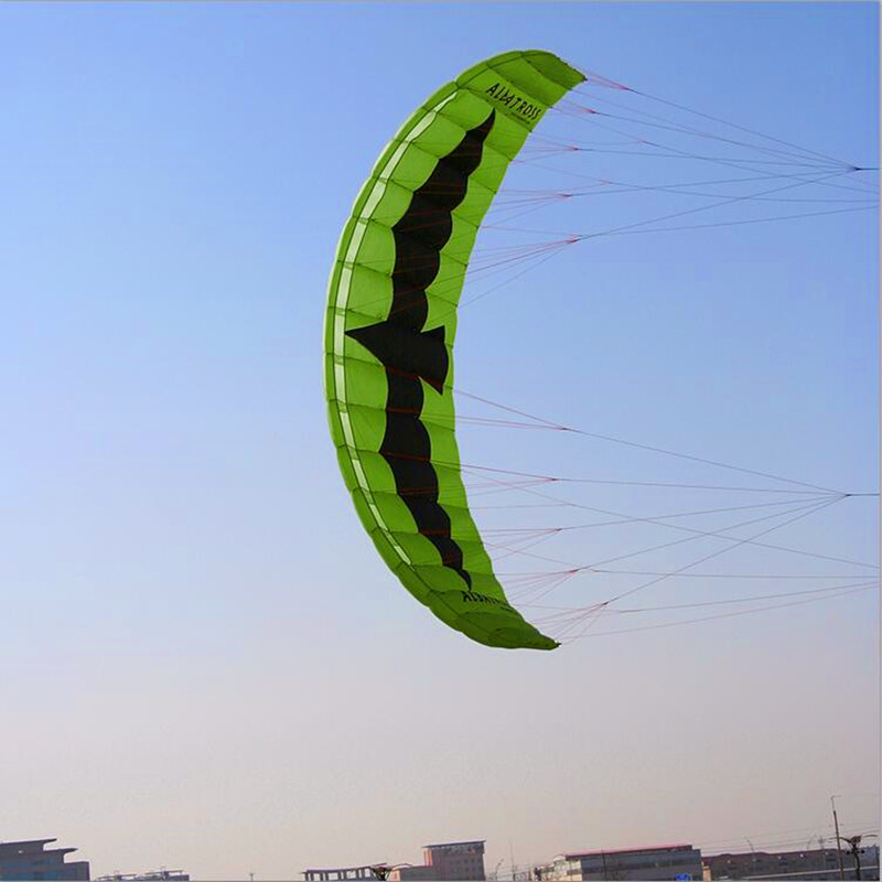 free shipping 5sqm large quad line power kite flying toys for adults nylon ripstop parafoil kite surfing albatross kite factory