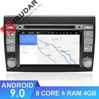 Isudar Car Multimedia Player Android 9 GPS 2 Din Stereo System For Fiat/Bravo 2007 2012 Octa Core 4GB RAM Radio am fm Wifi USB