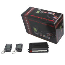New two way car alarm Two 2 Way LCD Car