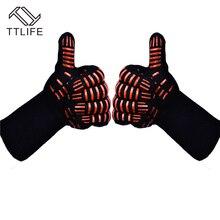 TTLIFE Ofenhandschuhe Handschuhe BBQ Grillen Kochen Handschuhe-932F Extreme Hitzebeständige Handschuhe Lange Für Extra Unterarm Schutz