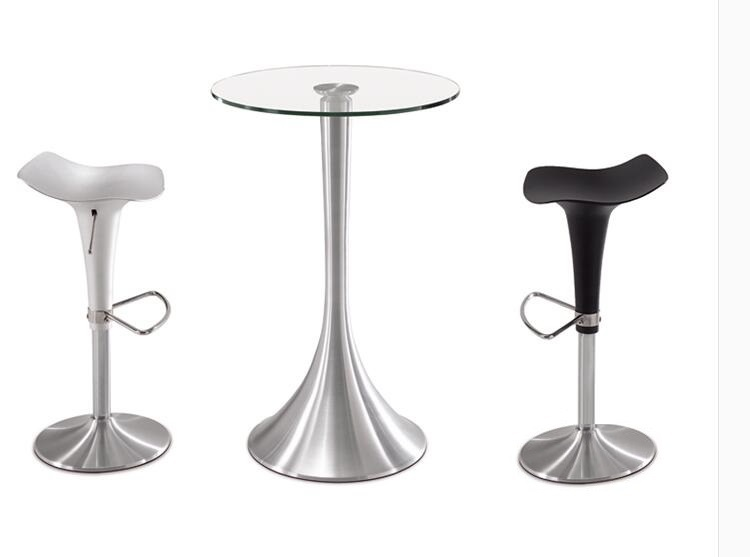 Meeting Reception Room Aluminum alloy Stool silver black color lift rotation chair free shipping enterprise office meeting room chair reception room plastic seat wood leg stool free shipping