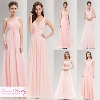 Peachy Pink Long Bridesmaid Dresses A Line One Shoulder Under 50 Ever Pretty EP09816PK Wedding Guest