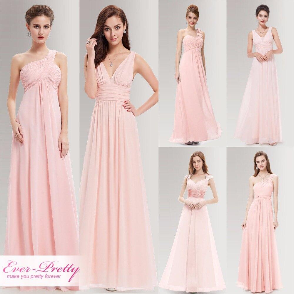 Peachy Pink Long Bridesmaid Dresses A Line One Shoulder
