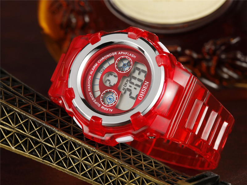 OHSEN Kids Watches Children Digital LED Fashion Sport Watch Cute Boys Girls Wrist watch Waterproof Gift Watch Alarm Kids Clock (23)