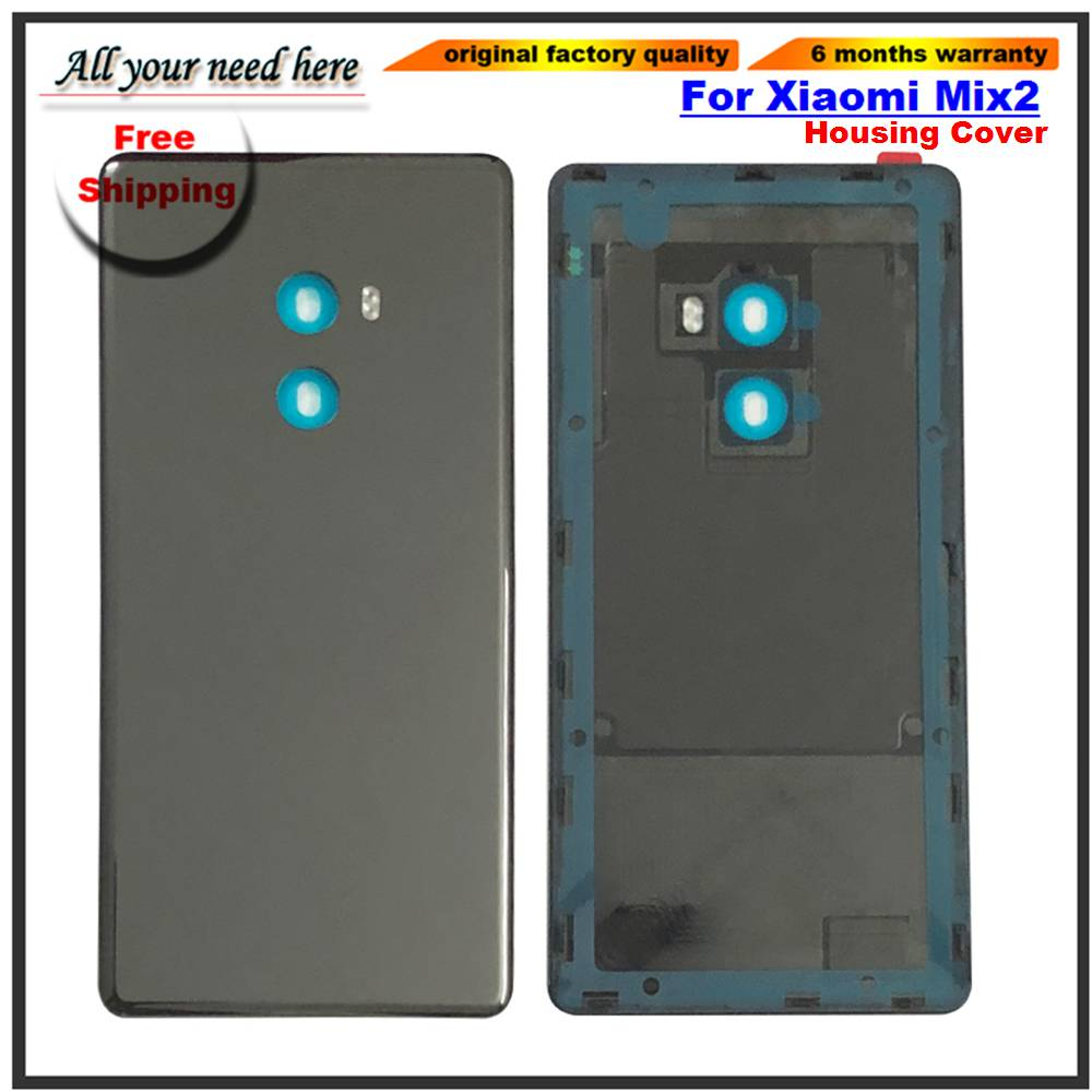 5.99'' Original For Xiaomi Mi Mix 2 Back Battery Glass Cover Case For Xiaomi Mi Mix2 Rear Housing Battery Door Replacement Parts