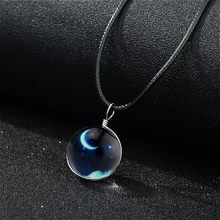20mm Noctilucan Crescent Glass Ball Chain Shape Pendant Action Figure Toy Necklace Toys Birthday Gifts Children Boys Girls(China)
