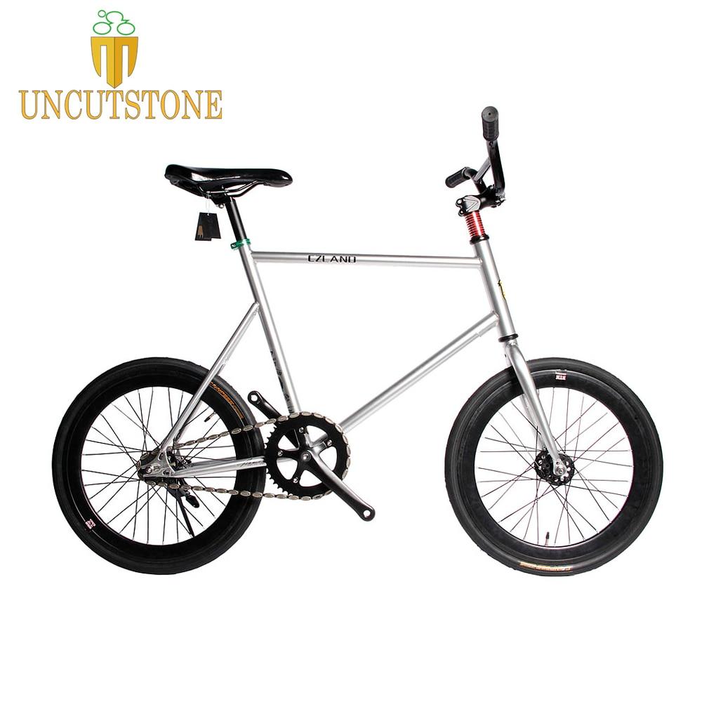 20 Inches Fixie Bicycle Fixed Gear Bike 700C Track Bike  30mm Rim   FRAME  Road Bike With Front V Brake