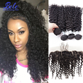 malaysian deep wave hair 3 bundles with frontal closure ali julia malaysian curly hair weave lace frontal closure with bundles