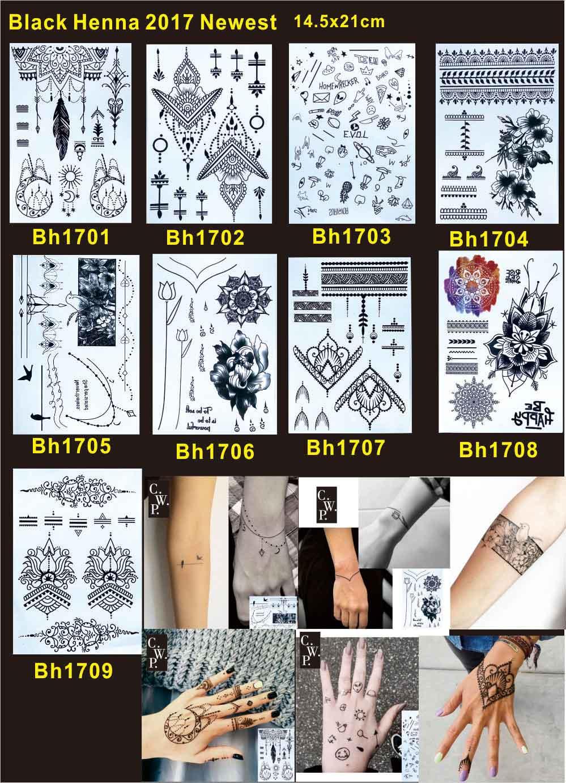Temporary Black Henna Tattoo: Aliexpress.com : Buy 10pcs/lot Black Henna Tattoo