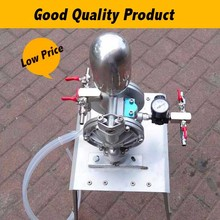 Small Protable High-Pressure Double Acting 18L/min Pneumatic Diaphragm Pump For Painting 0 7mpa high pressure 35l min ink oil glue chemical air operated double diaphragm pump bml 15