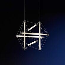 JAXLONG Nordic Style Vogue Design Light Fixture Living Room Bedroom Simple Home Decor Pendant Lamp Loft LED Long Hanging