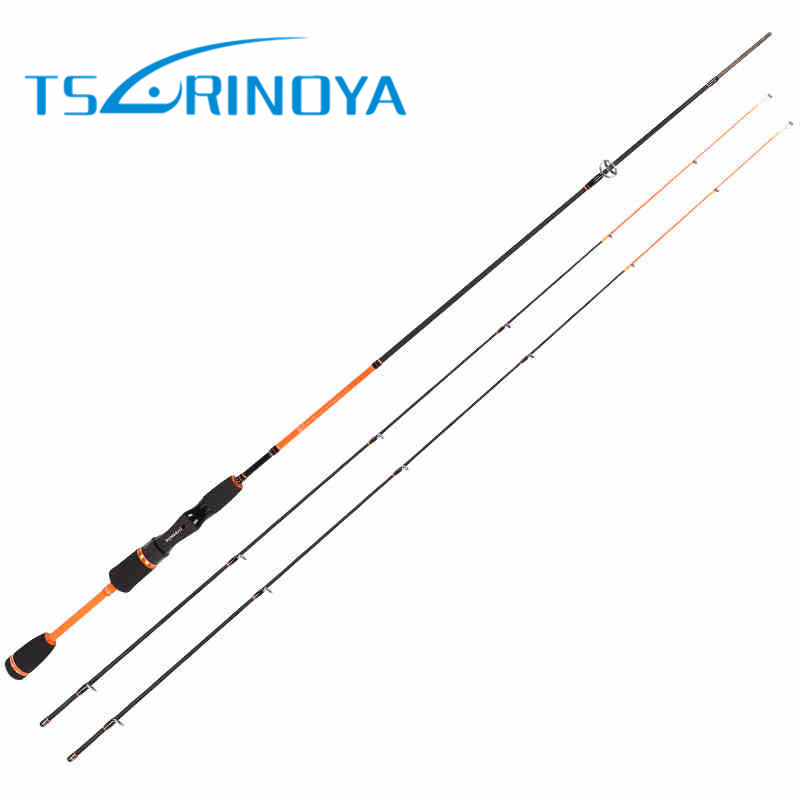 TSURINOYA 2Secs/1.8m/2 Tips(L/UL) Spinning Fishing Rod Lure:1-7g/2-8g Line:2-8lb Carbon Rods Trout Pesca Stick Fishing Tackle tsurinoya 1 89m ul carbon casting rod 0 6 8g lure weight ultralight spinning fishing rods 2 sections lure fishing rods baitcast