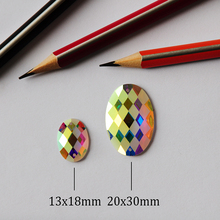 2051TH Oval AB Matte 2 Holes Rhinestones Sew on Strass AAAAA Crystal stones for Clothing Shoes Textil