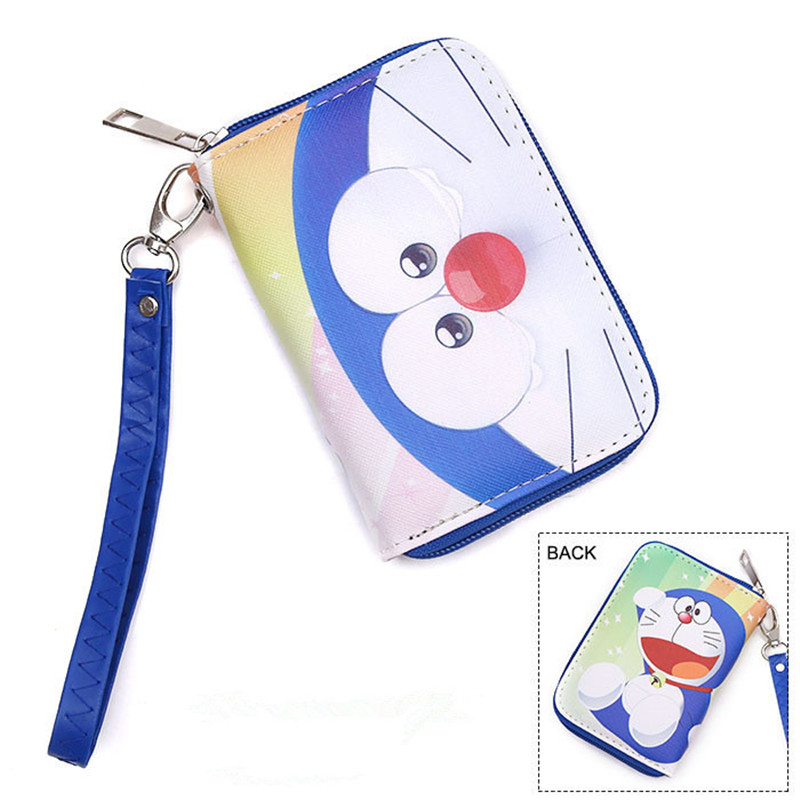 Kawaii Japanese Cartoon Wallet Handbag With Coin Pocket and Chain Doraemon/Totoro/Himouto! Umaru-chan Lady Girl's Anime Wallets japan anime himouto umaru chan wallet doma umaru cosplay coin card women men bifold purse