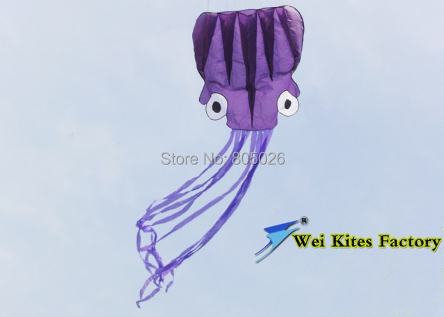Envío de la alta calidad 6 m Suave Pulpo kite kite diversos colores eligen con mango de nylon ripstop kevlar oitdoor juguetes wei