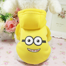 Cute Pet Dog Clothes For Small Dogs Soft Winter Yorkies Pugs Puppy Coat Warm Bear Clothing Hoodies