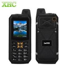 iMAN S2 IP68 Waterproof Phone Dual SIM 2200mAh 2.0 inch SC6531CA Triple Proofing Phone 21 Keys LED Flashlight FM TF Bluetooth