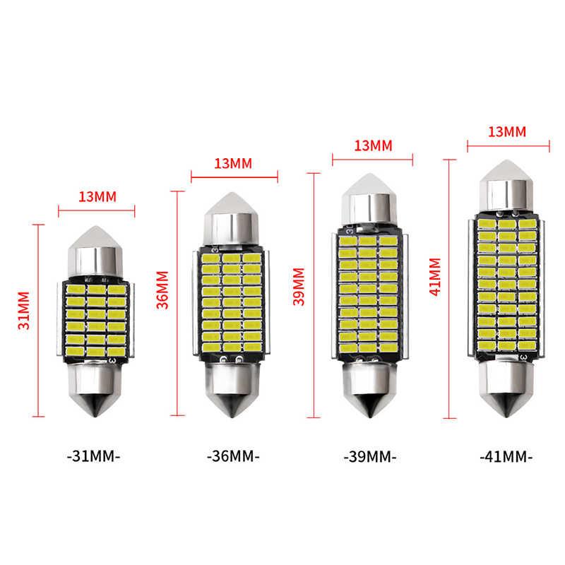 1 Pcs Mobil Interior Lampu 31 Mm 36 Mm 39 Mm 41 Mm SMD LED Lampu C10W C5W Memperhiasi Cermin dome Membaca Pintu Nomor Lampu Aksesoris Mobil
