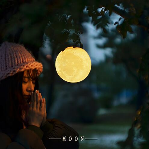 3D print moon lamp charging moon night light moon Luna private custom gift magnetic floating levitation 3d print moon lamp led night light 2 color auto change moon light home decor creative birthday gift