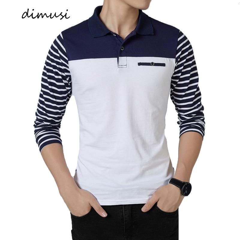 DIMUSI Mens   Polo   Shirts Summer Men Casual Cotton Long Sleeve Shirts Fashion Breathable   Polo   Tees Para Hombre Brand Clothing 5XL