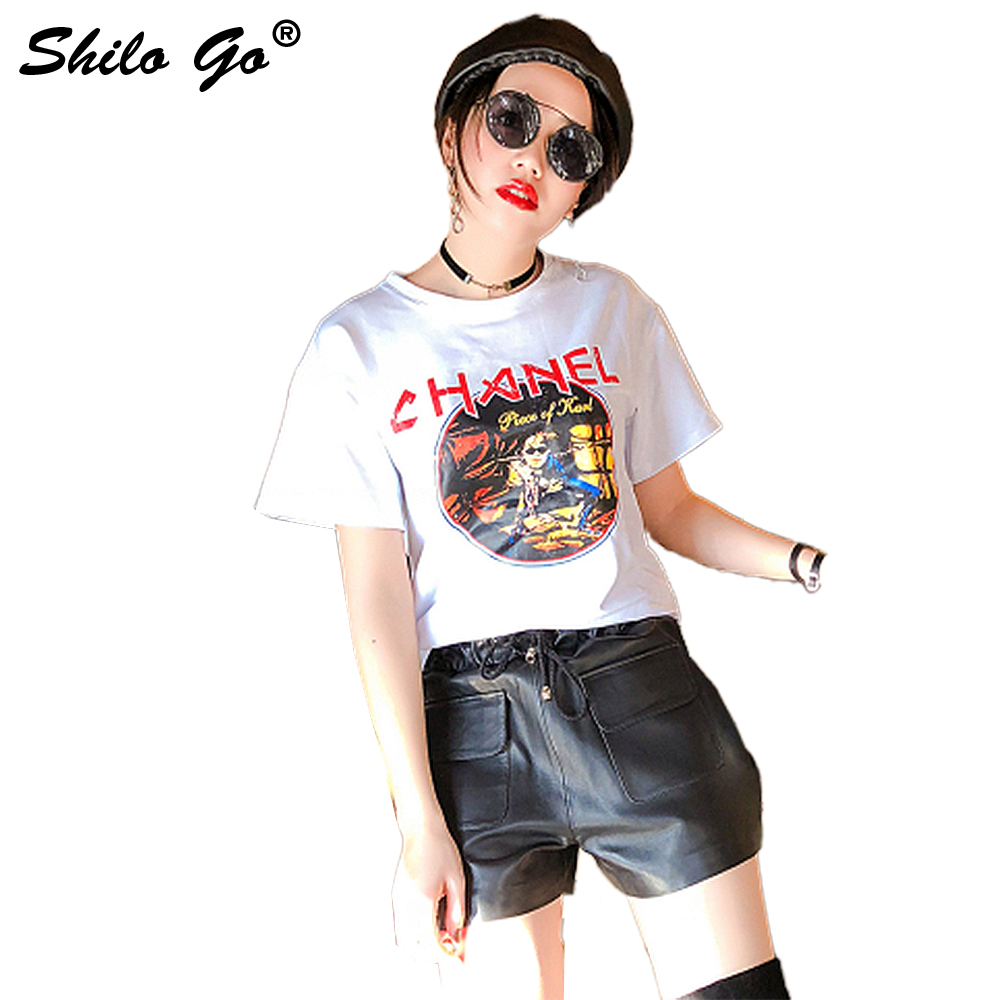 Leather Shorts Womens Spring Fashion Sheepskin Genuine Leather Shorts Tie Stretch High Waist Side Pocket Loose Shorts