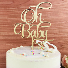 Oh Baby Cake Topper, Girl or Boy Baby Shower Cake Decor Supplies, Baby Birthday Commemorative Cake topper,As Birthday Gift