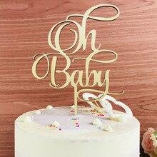 Oh adorno de pastel de bebé, niña o niño Baby Shower Cake Decor Supplies, Baby conmemorative Birthday Cake Topper, como regalo de cumpleaños