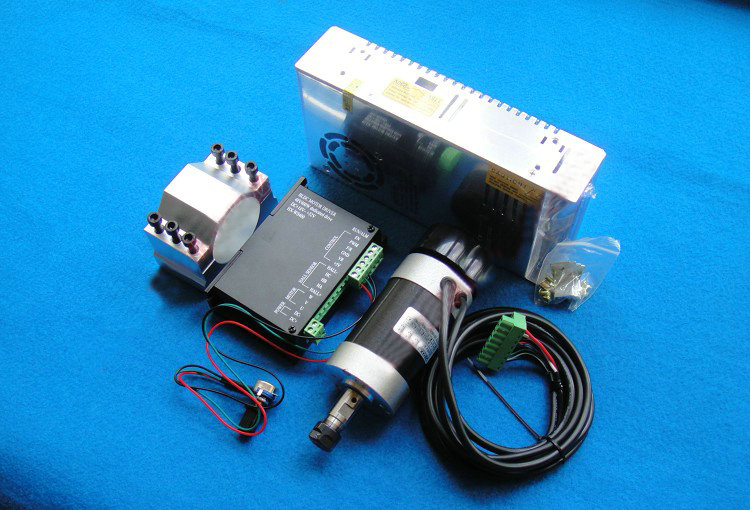 ER11 48V 400W High-speed Air-cooled Brushless Engraver Spindle Motor With BLDC Motor Controller +Power supply+52mm Mount dc48v 400w 12000rpm brushless spindle motor air cooled 529mn dia 55mm er11 3 175mm for cnc carving milling