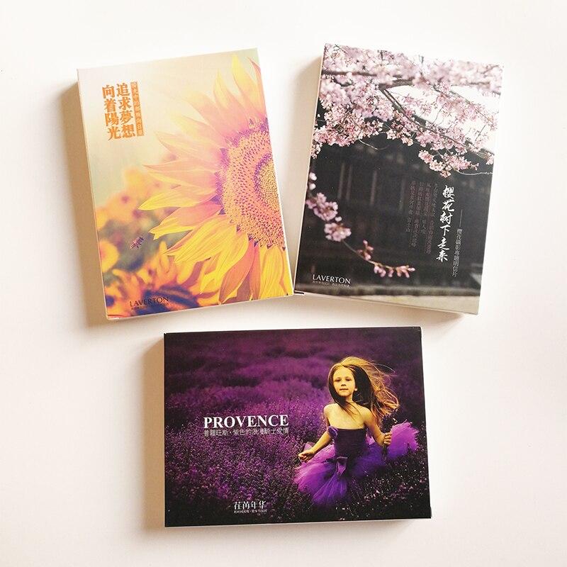 3 Boxen/set Schöne Blume Landschaft Postkarte Der Reise Grußkarten Landschaft Fotografie Postkarten Geburtstag Karten Ohne RüCkgabe