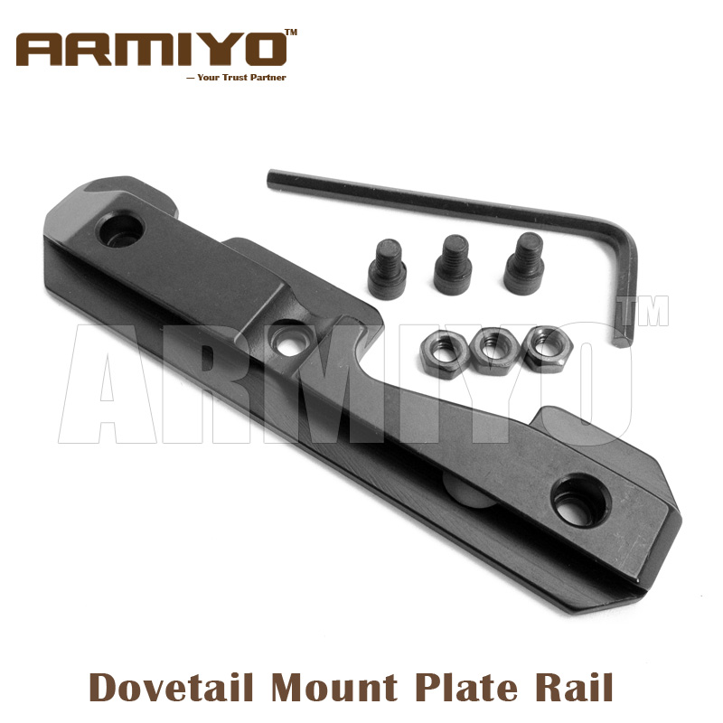 Armiyo Tactical AK 74U Side Dovetail Mount Plate Rail Mount Steel Milled Receiver With Three Bolts Hunting Accessories