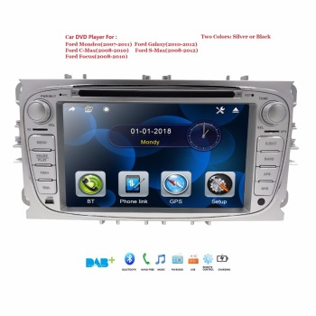 For FORD Mondeo S-MAX C-MAX Galaxy FOCUS 7 touch screen Car DVD GPS Radio with navigation 2 DIN Audio STEREO DVD PLAYER BT USB image