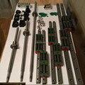12 HBH20CA Square Linear guide наборы + 3 х SFU605-400/700/1000 мм Ballscrew наборы + BK BF12 + 3 челюсти Гибкая Муфта Plum муфта