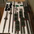 12 HBH20CA guia Linear Quadrado define + 3 x SFU605-400/700/1000mm conjuntos + bk bf12 ballscrew + 3 jaw acoplamento flexível plum acoplador