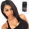 "Cheap 12-26"" 8A Clip In Human Hair Extensions Brazilian Yaki Straight Clip in Hair Extensions Human Hair Clip ins for Black Hair"