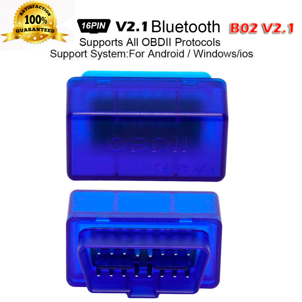 B02 V2.1 ELM327 16PIN OBD2 OBDII Bluetooth Car Auto Diagnostic Interface Scanner