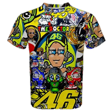 New Valentino Rossi VR46 46 The Doctor Fans Best Quality Full 3D Sports T-Shirt Quick Dry Jersey