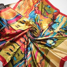 90cm*90cm Free Shipping 2016 Big Size Silk Square Scarf Women Fashion Brand High Quality Imitated Silk Satin Scarves Shawl Hijab