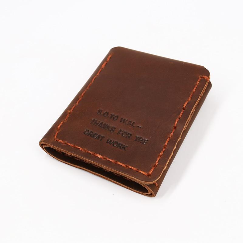 SIMLINE äkta läder plånbok män Det hemliga livet av Walter Mitty - Plånböcker - Foto 2