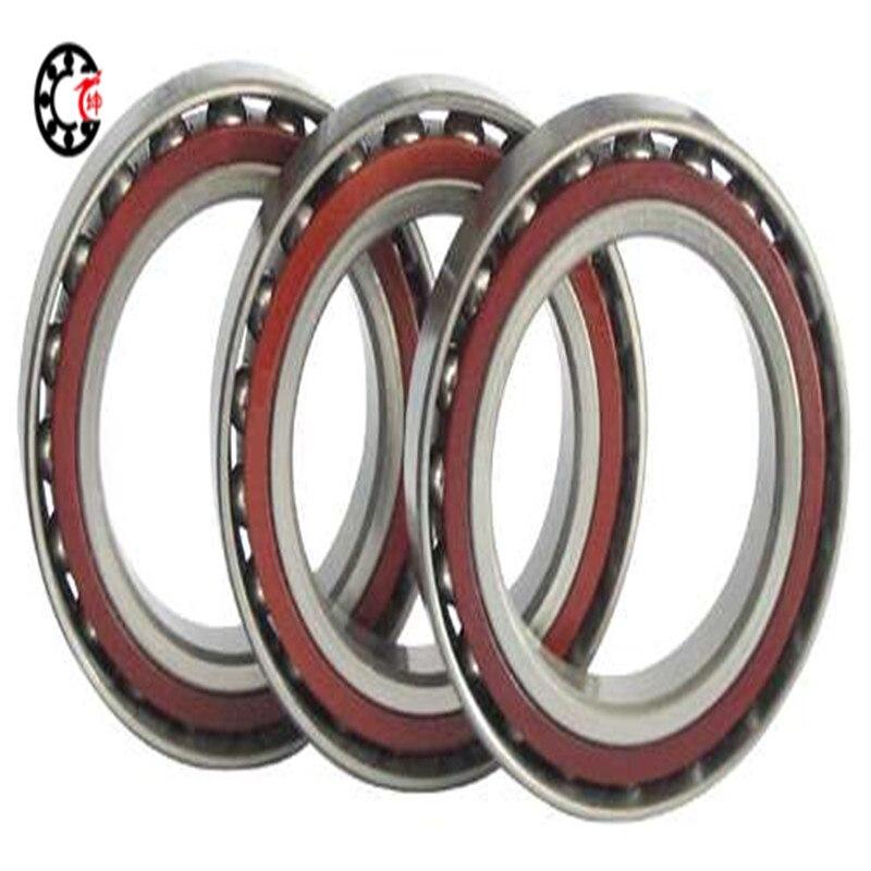 50mm diameter Angular contact ball bearings 7010 AC/P5 50mmX80mmX16mm,Contact angle 25,ABEC-5 Machine tool 1pcs 71901 71901cd p4 7901 12x24x6 mochu thin walled miniature angular contact bearings speed spindle bearings cnc abec 7