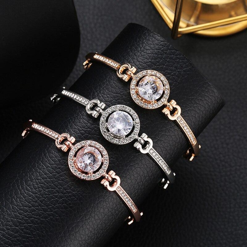 Роскошные браслеты из нержавеющей стали из розового золота, женские браслеты с сердцем, подвеска любовь, браслет для женщин, пара, женская бижутерия в подарок