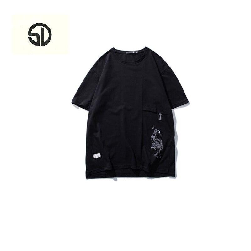 MenS T-Shirts 2018 Funny Printed Short Sleeve T Shirts Summer Hip Hop Casual O-Neck Tops Tees Streetwear Loose Fashion Short