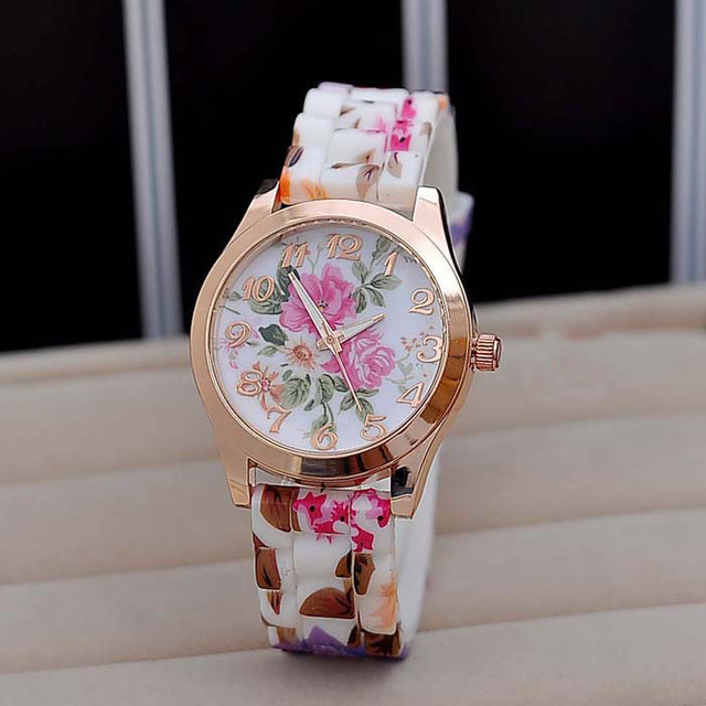 Hot Sale Brand Women Silicone Watch Fashion Colorful Quartz Watches For Sudent G