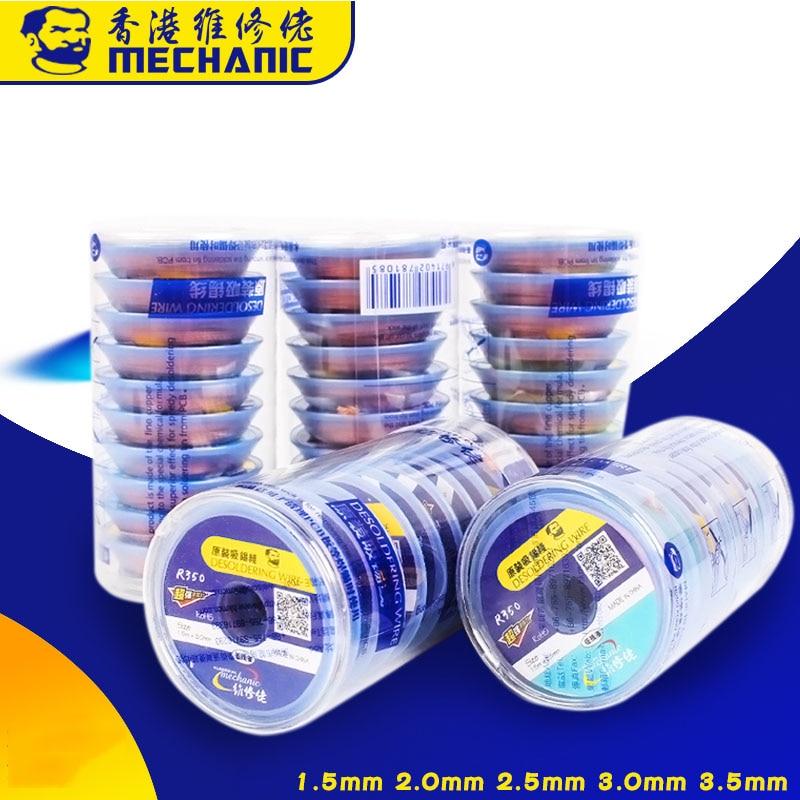 MECHANIC Solder Wick Desoldering Braid 1.5 2.0 2.5 3.0 3.5mm Desoldering Copper Wire For PCB BGA Soldering Repair Tool 1.5M